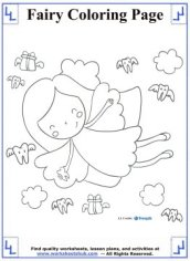 fairy coloring pages 4