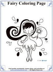fairy coloring pages 5