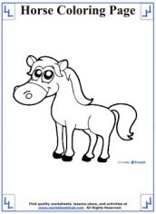 horse coloring pages 2