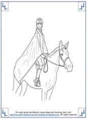 horse coloring pages 5