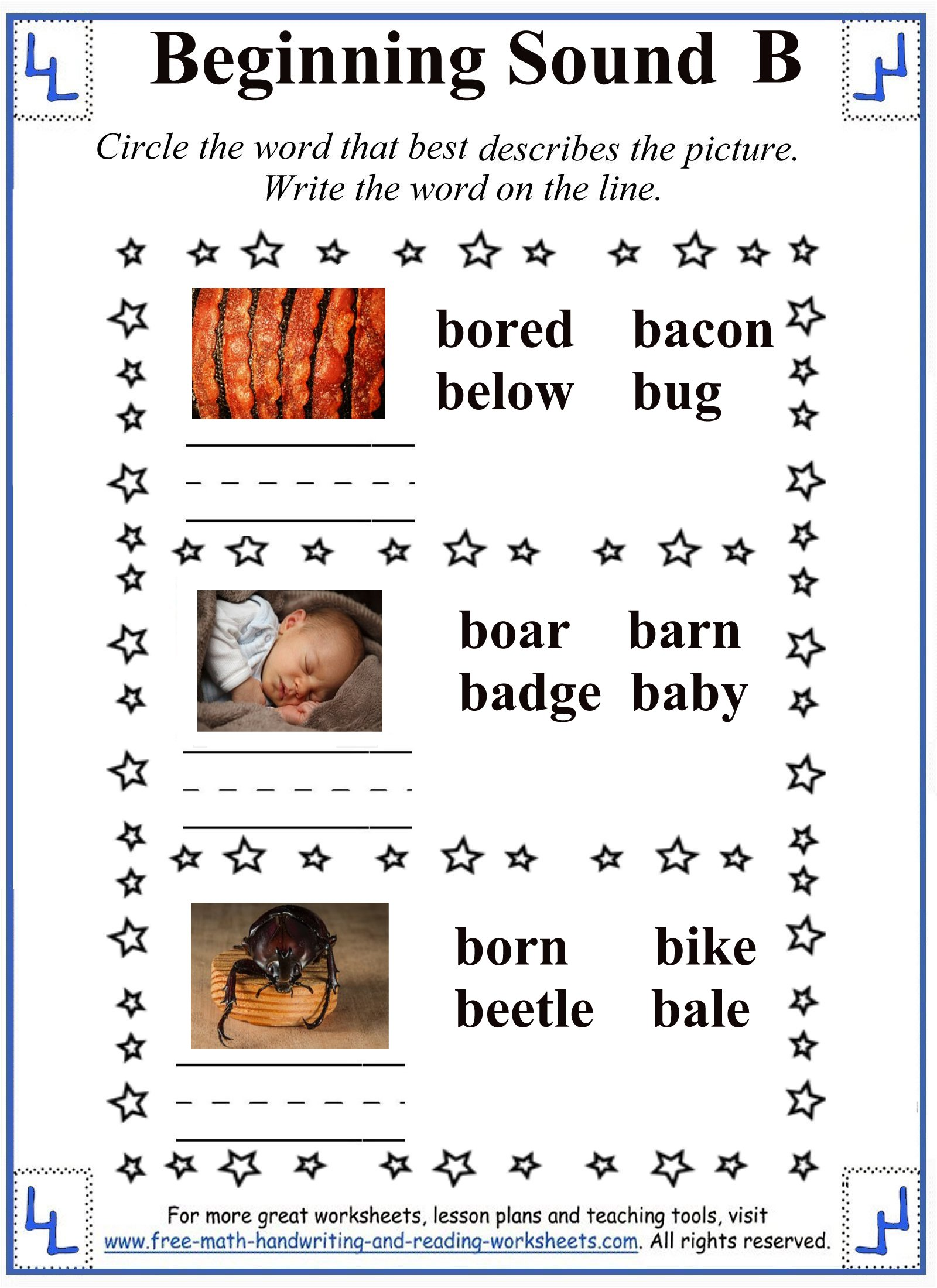 letter b worksheets 4