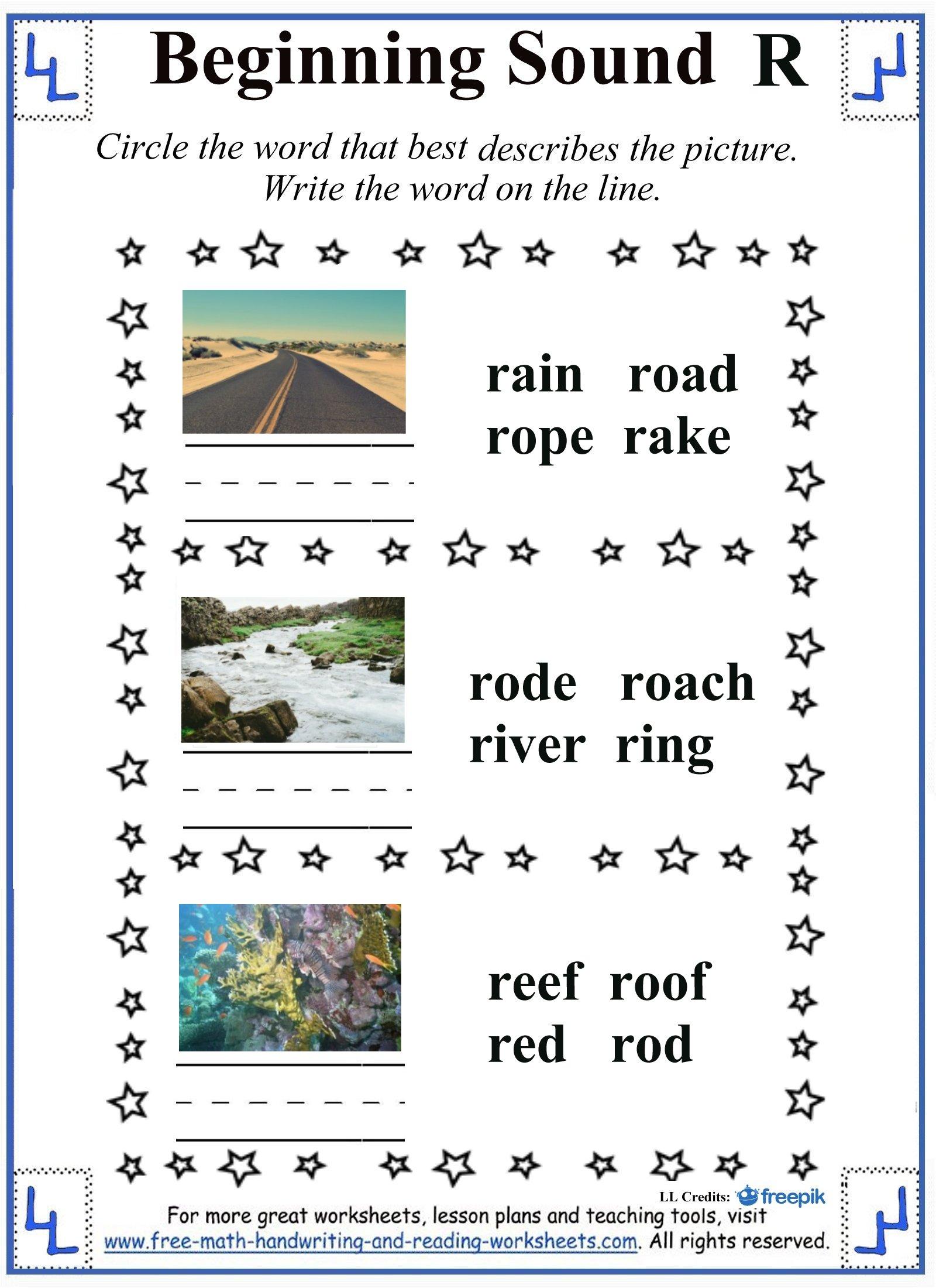 letter r worksheets 4