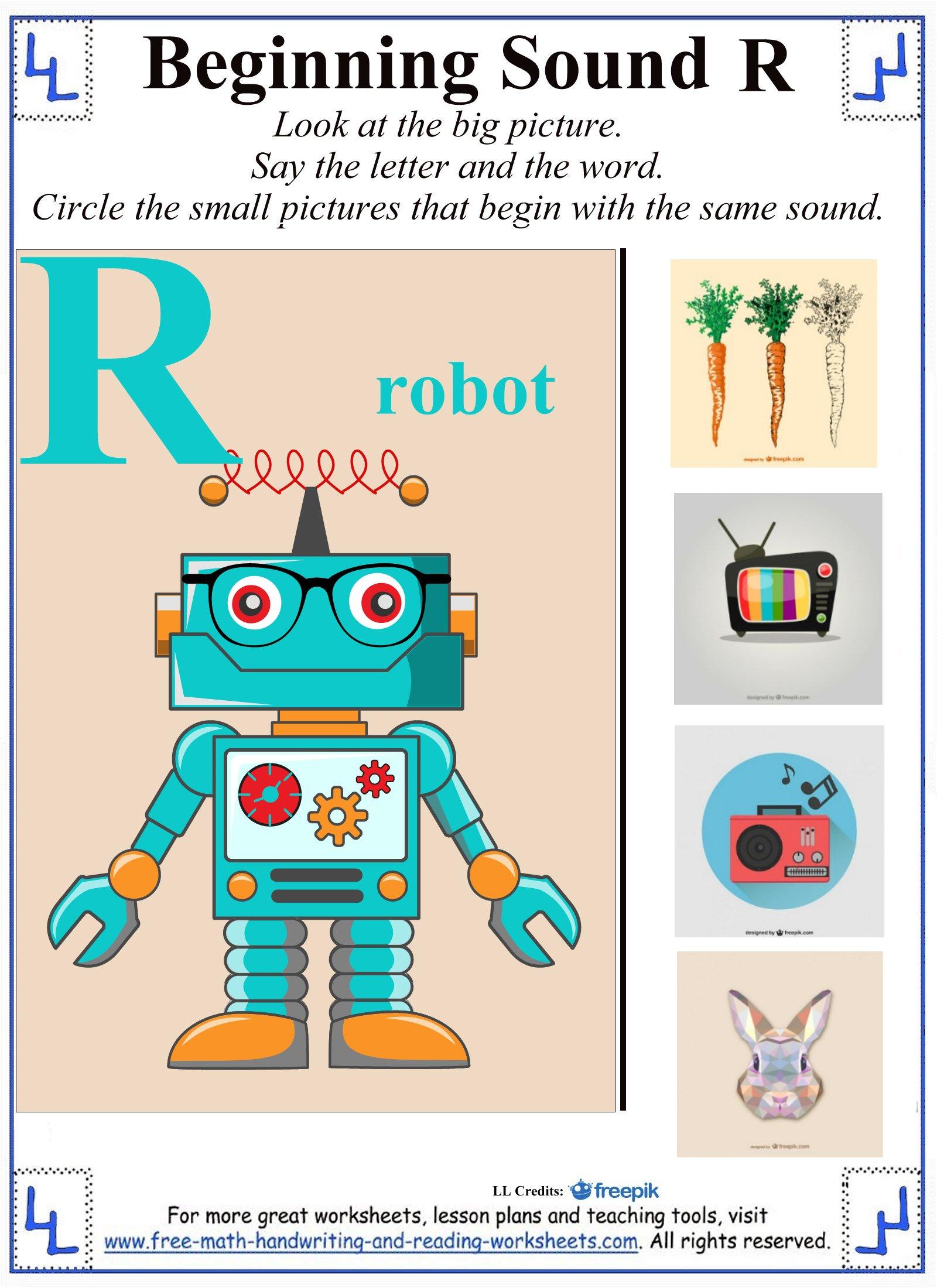 letter r worksheets 1