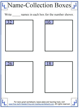 name collection box worksheet 5