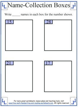 name collection box worksheet 6