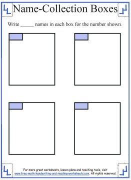 name collection box worksheet template