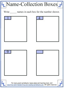 name collection box worksheet 3