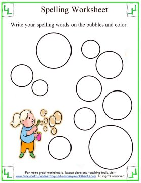 1st Grade Spelling - Lists and Worksheets