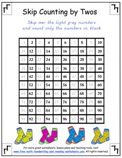 counting by twos table