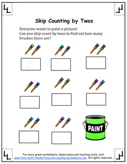 counting by twos worksheet 2