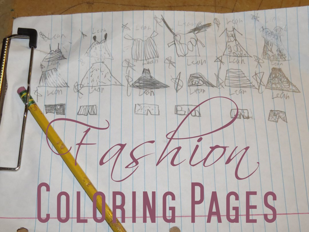 fashion coloring pages 0