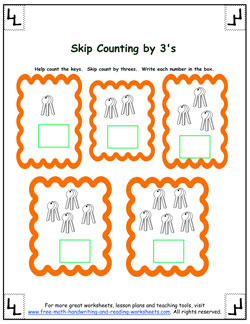 skip counting by threes 2