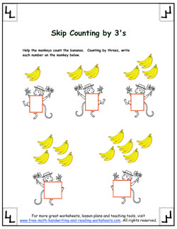 skip counting by threes 3