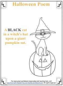 Halloween Poem Printable Halloween Activities