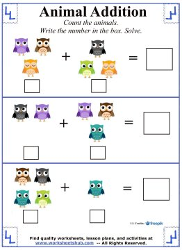 kindergarten addition worksheets. Black Bedroom Furniture Sets. Home Design Ideas