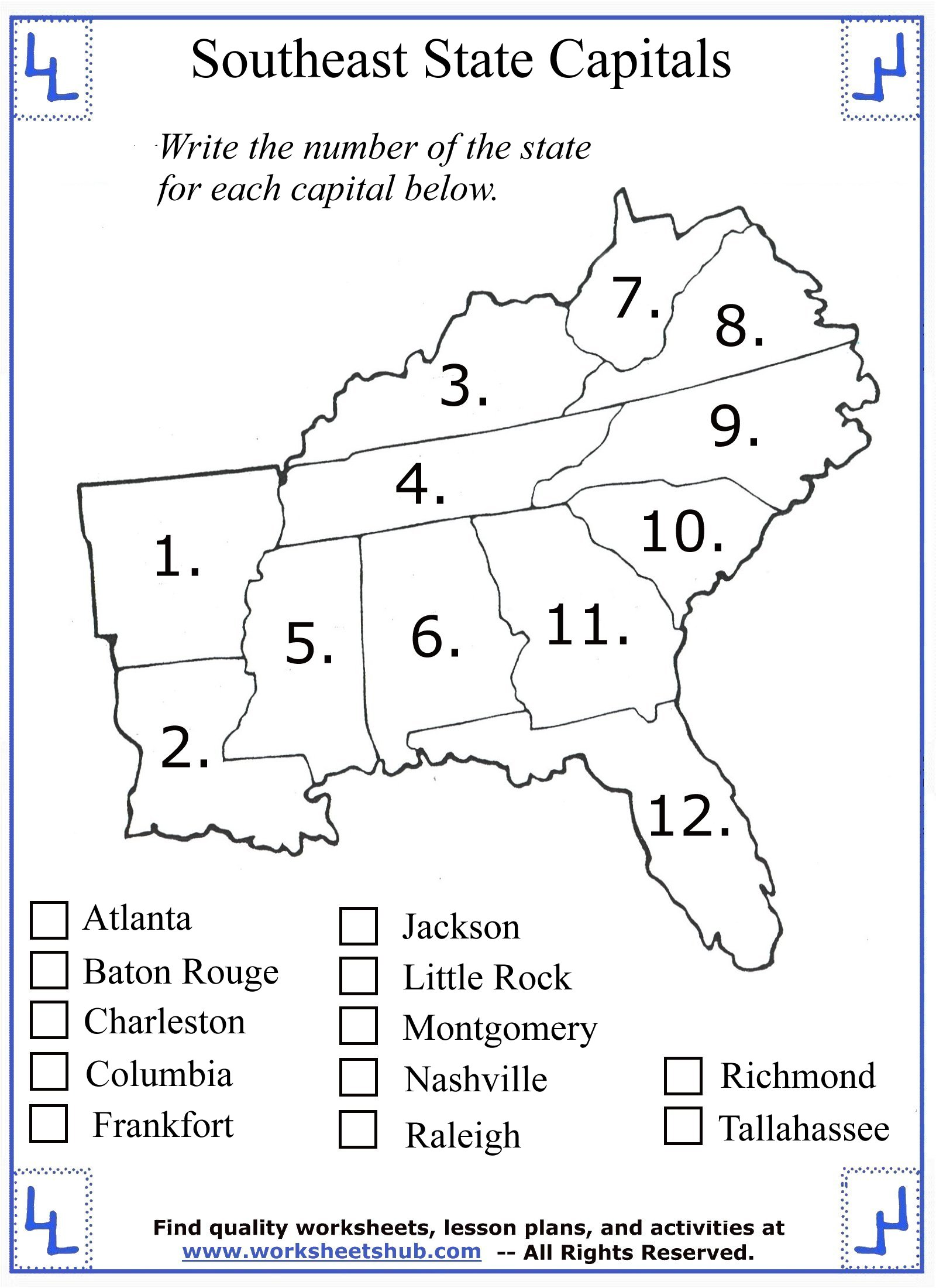 - 4th Grade Social Studies - Southeast Region States