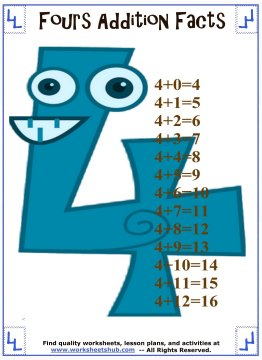 addition facts 4