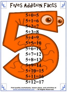 addition facts 5