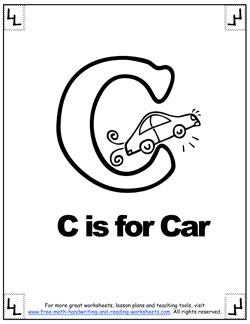 alphabet coloring c