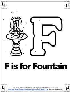 alphabet coloring f
