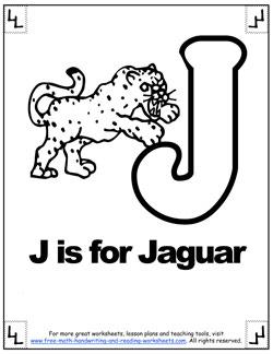 alphabet coloring j