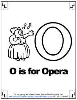 alphabet coloring o