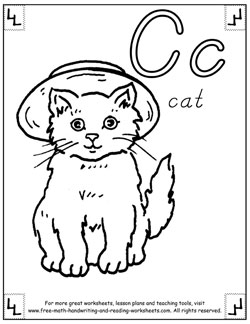 alphabet coloring pages c