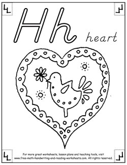 alphabet coloring pages h