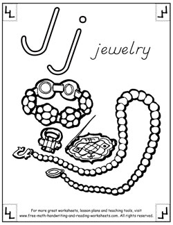 alphabet coloring pages j
