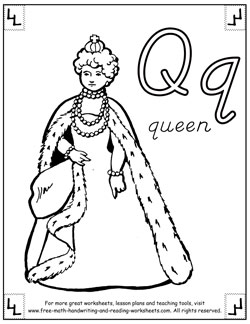 alphabet coloring pages q