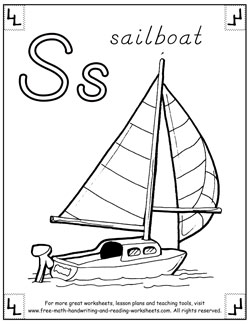 alphabet coloring pages s