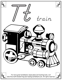 alphabet coloring pages t