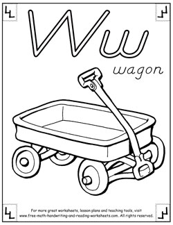 alphabet coloring pages w