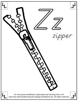 alphabet coloring pages z