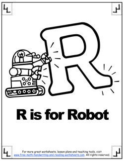 alphabet coloring r