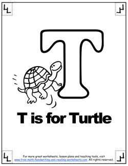 alphabet coloring t