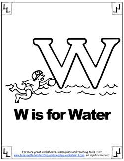 alphabet coloring w