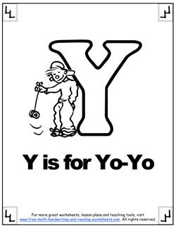 alphabet coloring y