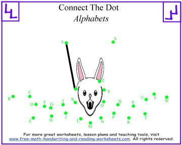 alphabet dot to dot 1