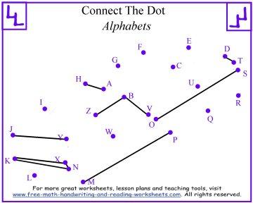 Number Names Worksheets alphabet dot to dot printables : Alphabet Dot to Dot Puzzles