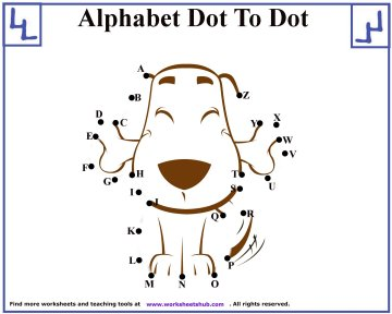 alphabet dot to dot 5