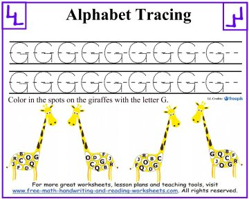 alphabet tracing 1