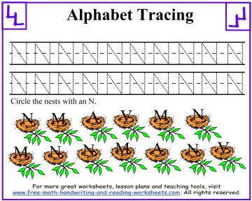alphabet tracing worksheets 2
