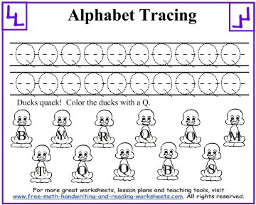 alphabet tracing worksheets 5