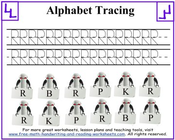 alphabet tracing worksheets 6