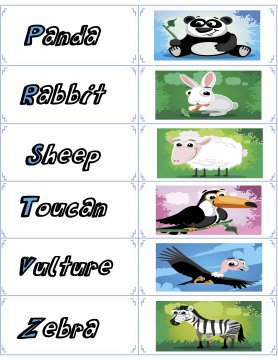 animal flash cards 3