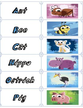 animal flash cards 4