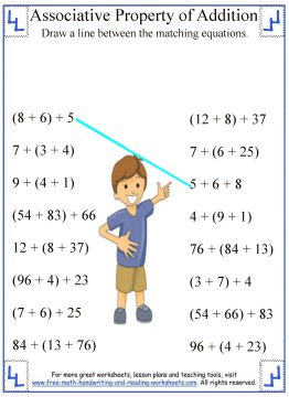 math worksheet : associative property of addition  definition  worksheets : Speed Addition Worksheets