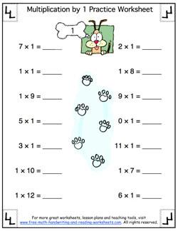 Simple multiplication worksheets for beginners