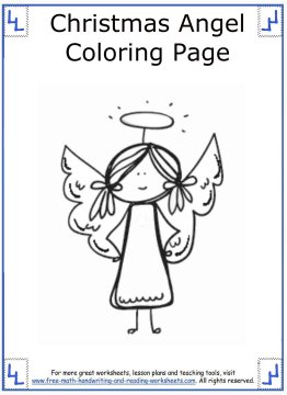 christmas angel coloring pages 10